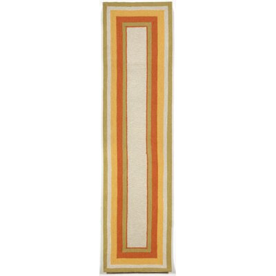 Bockman Hand-Tufted Orange/Yellow Indoor/Outdoor Area Rug Rug Size: Runner 2 x 8