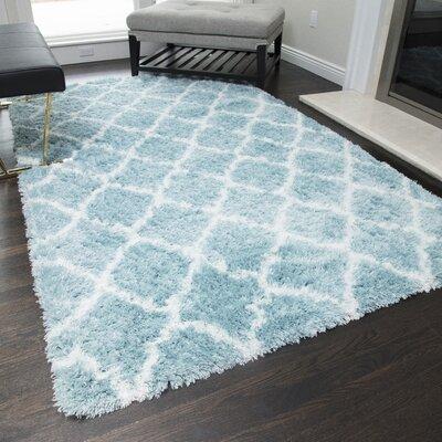 Cardwell Blue Area Rug Rug Size: 2 x 4