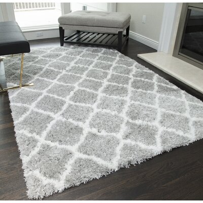 Cardwell Gray/Ivory Area Rug Rug Size: 23 x 8