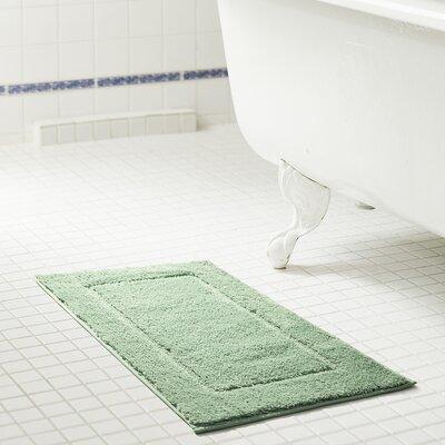 Raelene Microfiber Bath Rug Color: Aqua, Size: 17 W x 24 L