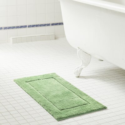 Raelene Microfiber Bath Rug Color: Sage, Size: 20 W x 32 L