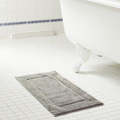 Raelene Microfiber Bath Rug Color: Silver, Size: 20 W x 32 L