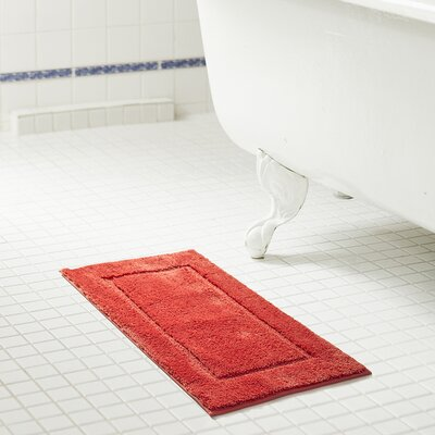 Raelene 2 Piece Bath Rug Set Color: Coral