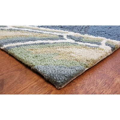 Clowers Akumal Blue Indoor/Outdoor Area Rug Rug Size: Rectangle 2 x 5