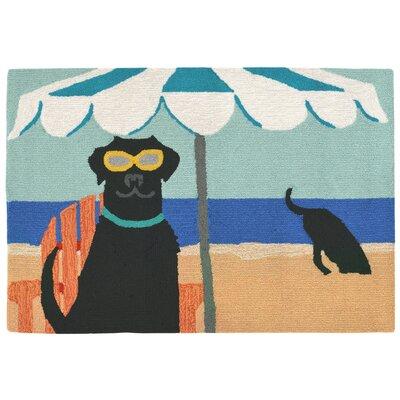 Mollett Hand-Tufted Blue Indoor/Outdoor Area Rug Rug Size: 18 x 26