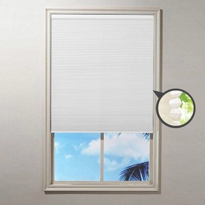 Cordless Blackout Cellular Shade Blind Size: 23 W x 64 L, Color: Ivory
