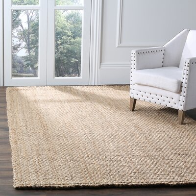 Addilyn Hand-Woven Natural Area Rug Rug Size: Rectangle 5 x 8