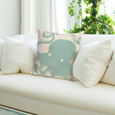 Coello Octopus Throw Pillow Color: Blue