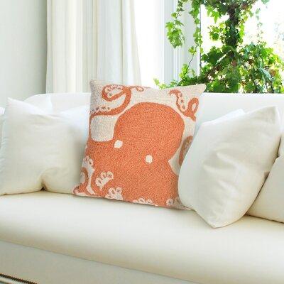Coello Octopus Throw Pillow Color: Orange
