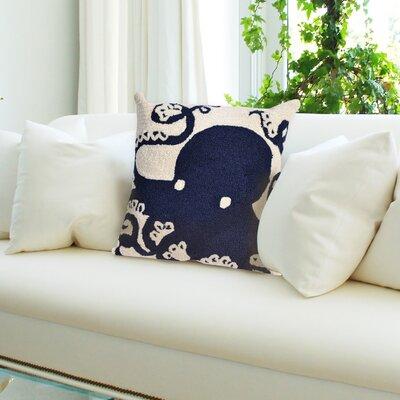 Coello Octopus Throw Pillow Color: Navy