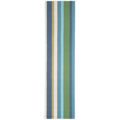 Bockman Seaside Vertical Stripe Indoor/Outdoor Area Rug Rug Size: Runner 2 x 8