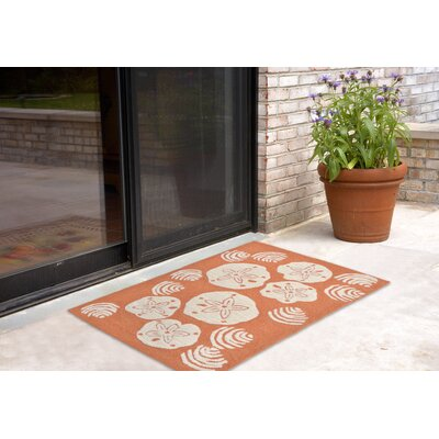 Cobden Hand-Tufted Orange Indoor/Outdoor Area Rug Rug Size: Rectangle 2 x 5