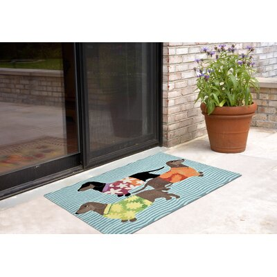 Maud Hand-Tufted Blue Indoor/Outdoor Area Rug Rug Size: 18 x 26