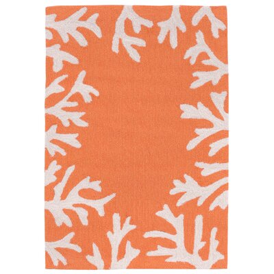 Claycomb Hand-Tufted Orange Indoor/Outdoor Area Rug Rug Size: Rectangle 2 x 3