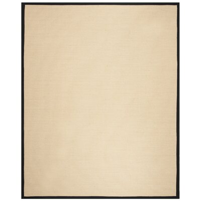 Cayman Beige/Black Area Rug Rug Size: Rectangle 4 x 6