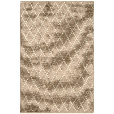 Arria Hand-Woven Natural/Ivory Area Rug Rug Size: Rectangle 4 x 6