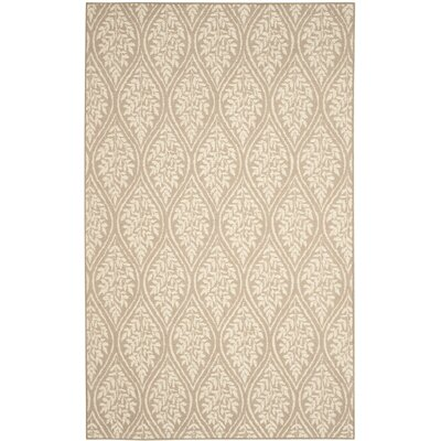 Allegra Hand-Woven Sand/Natural Area Rug Rug Size: Rectangle 5 x 8