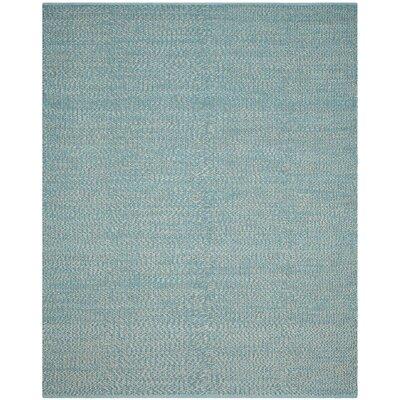 Alberta Hand-Woven Turquoise Cotton Pile Area Rug Rug Size: Rectangle 8 x 10
