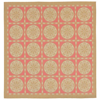 Coeur Tile Pink/Green Indoor/Outdoor Area Rug Rug Size: Square 710