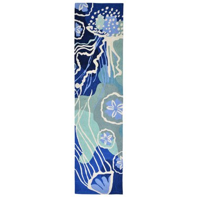 Claycomb Hand-Tufted Blue Indoor/Outdoor Area Rug Rug Size: Runner 2 x 8