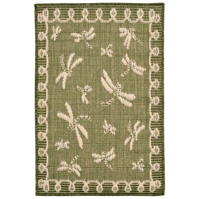 Clatterbuck Green Indoor/Outdoor Area Rug Rug Size: Rectangle 111 x 211