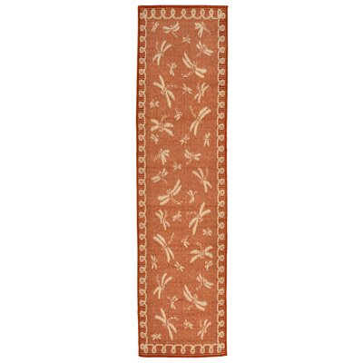 Clatterbuck Rust Indoor/Outdoor Area Rug Rug Size: Runner 111 x 76