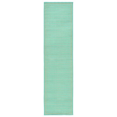 Clatterbuck Aquamarine Indoor/Outdoor Area Rug Rug Size: Runner 111 x 76