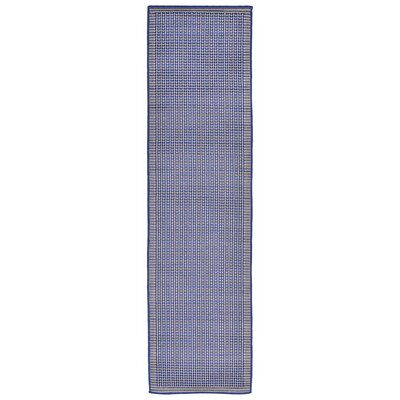 Clatterbuck Texture Blue Indoor/Outdoor Area Rug Rug Size: Runner 111 x 76
