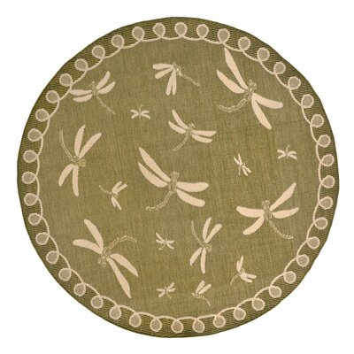 Clatterbuck Green Indoor/Outdoor Area Rug Rug Size: Round 710