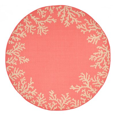 Clatterbuck Orange Indoor/Outdoor Area Rug Rug Size: Round 710