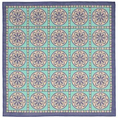 Coeur Blue Tile Indoor/Outdoor Area Rug Rug Size: Square 710