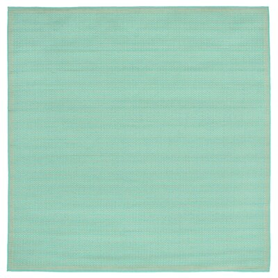 Clatterbuck Aquamarine Indoor/Outdoor Area Rug Rug Size: Square 710