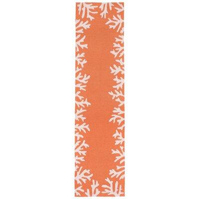 Claycomb Hand-Tufted Orange Indoor/Outdoor Area Rug Rug Size: Runner 2 x 8