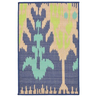 Coeur Blue/Beige Indoor/Outdoor Area Rug Rug Size: Rectangle 111 x 211