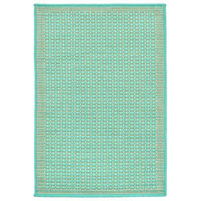 Clatterbuck Aquamarine Indoor/Outdoor Area Rug Rug Size: Rectangle 33 x 411