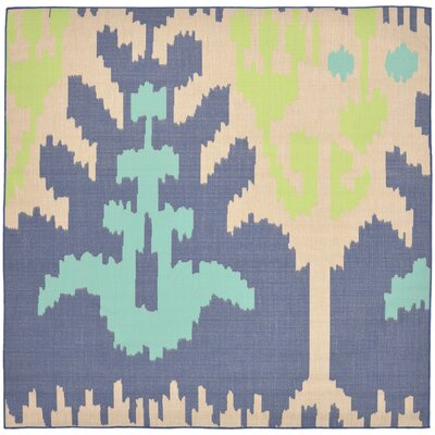 Coeur Blue/Beige Indoor/Outdoor Area Rug Rug Size: Square 710