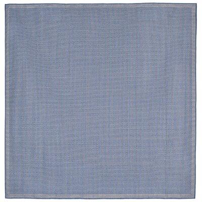 Clatterbuck Texture Blue Indoor/Outdoor Area Rug Rug Size: Square 710