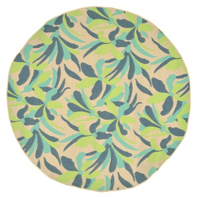 Coeur Rectangle Blue Indoor/Outdoor Area Rug Rug Size: Round 710