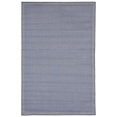 Clatterbuck Texture Blue Indoor/Outdoor Area Rug Rug Size: Rectangle 410 x 76