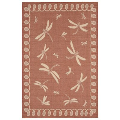 Clatterbuck Rust Indoor/Outdoor Area Rug Rug Size: Rectangle 410 x 76