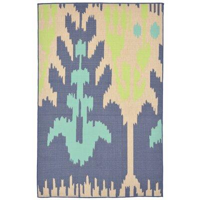 Coeur Blue/Beige Indoor/Outdoor Area Rug Rug Size: Rectangle 410 x 76