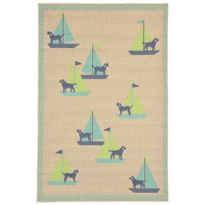 Coeur Blue Indoor/Outdoor Area Rug Rug Size: Rectangle 410 x 76