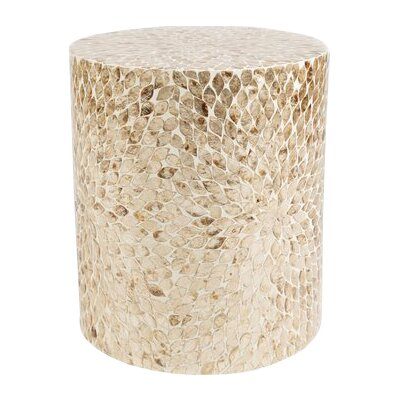 Germain Round End Table Color: Beige