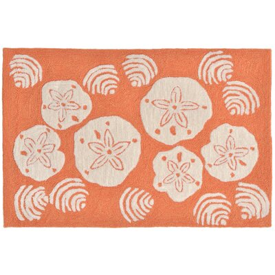 Cobden Hand-Tufted Orange Indoor/Outdoor Area Rug Rug Size: Rectangle 18 x 26