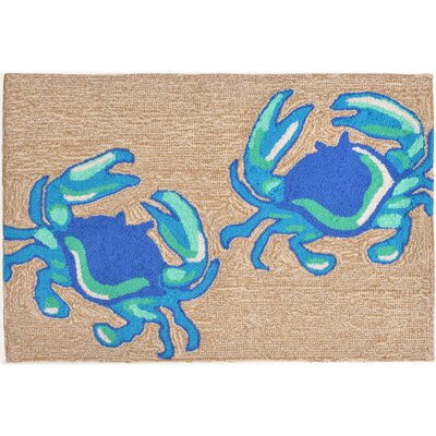 Anchoretta Hand-Tufted Blue Indoor/Outdoor Area Rug Rug Size: Rectangle 2 x 3