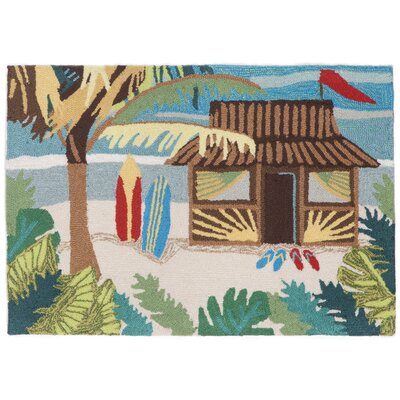 Cohee Tiki Hut Multi Indoor/Outdoor Area Rug Rug Size: Rectangle 2'6