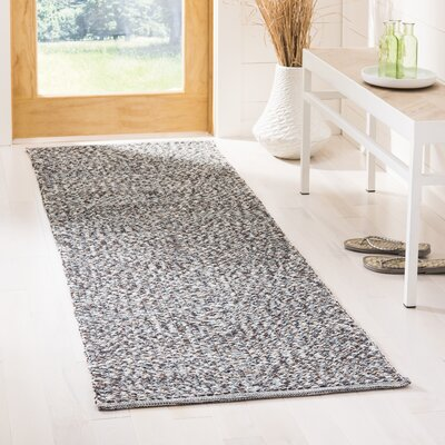 Alberta Hand-Woven Gray Area Rug Rug Size: Runner 23 x 7