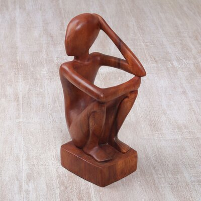 Gibbsboro Thinker Wood 1 Bottle Tabletop Wine Bottle Rack