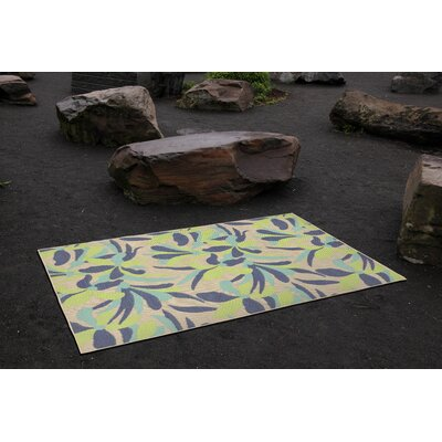 Coeur Rectangle Blue Indoor/Outdoor Area Rug Rug Size: Rectangle 410 x 76