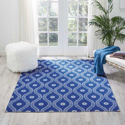 Astrid Navy Indoor/Outdoor Area Rug Rug Size: Rectangle 53 x 75